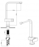 Смеситель латунный в мойку EMAR 3014